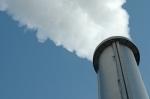 Cheminée d'un centre d'incinération à valorisation énergétique